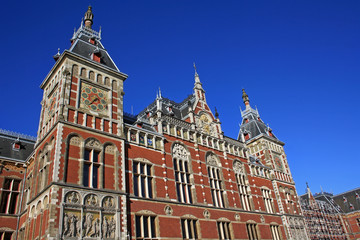 Amsterdam Centraal is the largest railway station in the Netherlands