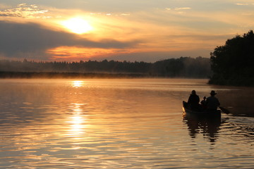 sunrise becancour river silhouette