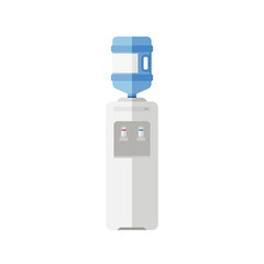 Water cooler flat icon
