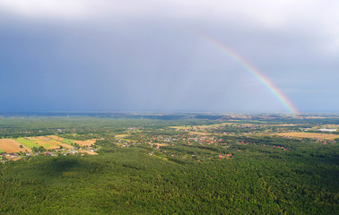 Rainbow seen from the air