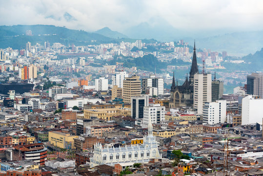 Manizales Downtown and Cathedral