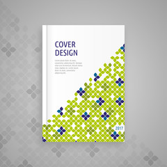 Template cover for book, abstract design, vector modern book