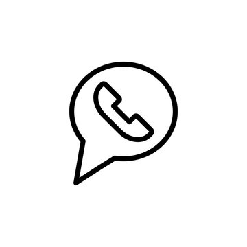 mobile call notification line black icon