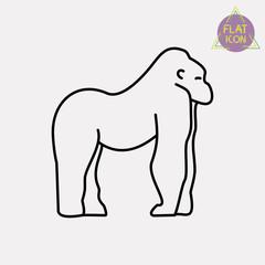 gorilla line icon