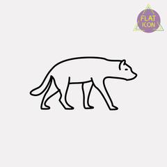 coyote line icon