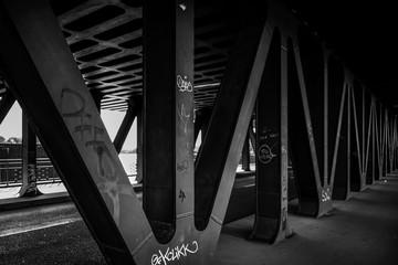 Upper Harbour Bridge in Hamburg Germany