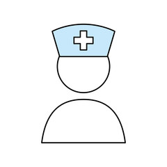Nurse pictogram symbol