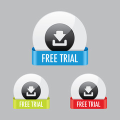 Free Trial Icon Buttons