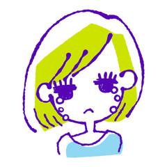 涙を流す女の子のイラスト