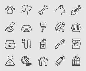 Pets line icon