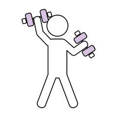 Fitness man pictogram
