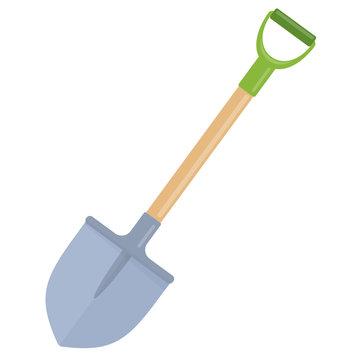 Garden shovel flat icon