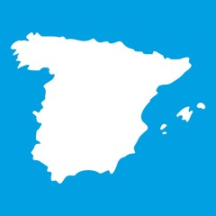 Map of Spain icon white