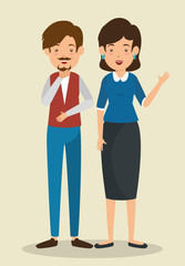 interactive business people communication