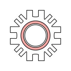 Gear machinery piece