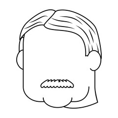 Grandfather faceless cartoon
