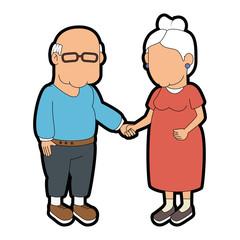 couple of grandparents icon