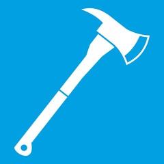 Firefighter axe icon white