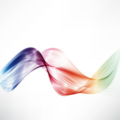 Abstract motion smooth color wave vector. Curve of the rainbow line