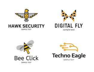 Fly Logo Design Template Set