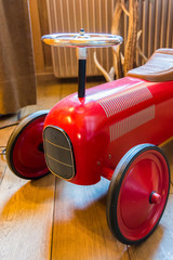 Vintage red toy car