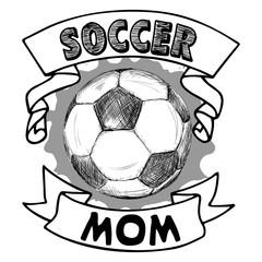 Vector Football illustration Soccer Mom on white background with splash