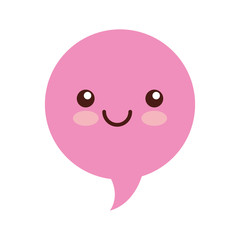 speech bubble kawaii character vector illustration design