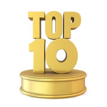 Top 10 on Podium Isolated