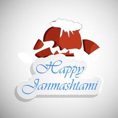 illustration of element of  hindu festival Janmashtami background.