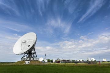 Large parabolic satellite station for interception of telecommunication
