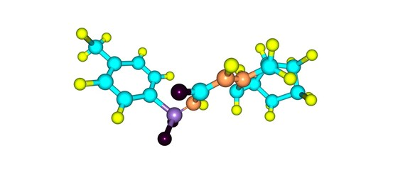 Gliclazide molecular structure isolated on white