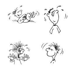 emotions faces vector cartoon characters. Vector Illustration set