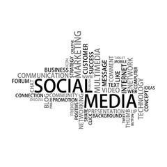 Social Media Tag Cloud, vector