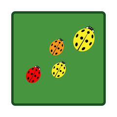 Ladybird in green square sign