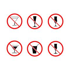 No drink alcohol set