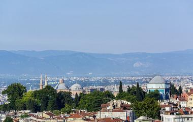 Green mausoleum view in Bursa City,(Turkey)