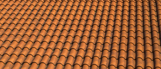Texture of classic shingles: repeated pattern of tile of house top on the roof