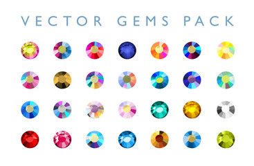 Vector rhinestone illustration