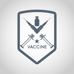 vaccine logo vector design