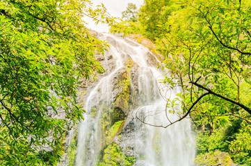 Keuken foto achterwand Lime groen Waterfall mountain landscape in thailand.