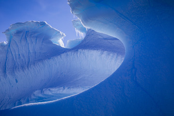 Abstract pattern of blue iceberg