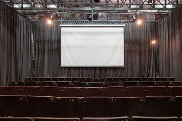 Mini theater / View of empty mini theater.