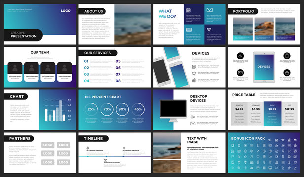 Modern Purple and Blue Gradient Presentation Template. You can use it presentation, flyer and leaflet, corporate report, marketing, pitch, annual report, catalog.