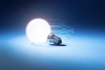 lampadina, luce, concetto, elettricità
