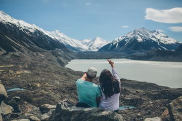 Couple on Mountain - Around New Zealand