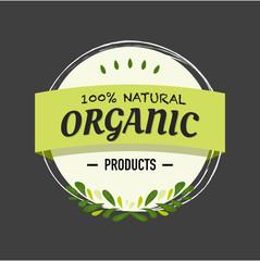 hundred Percent Natural Organic Products Green Logo