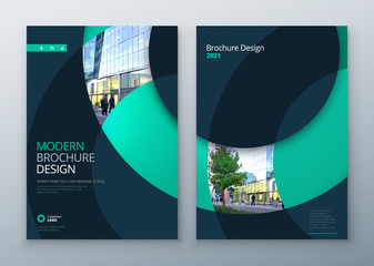 Brochure template layout design. Corporate business annual report, catalog, magazine, flyer mockup. Creative modern bright concept circle round shape Wall mural
