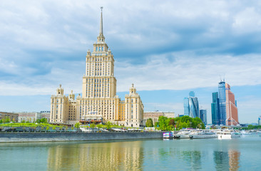 The proud of Soviet architecture in Moscow