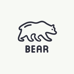 Bear vector logo