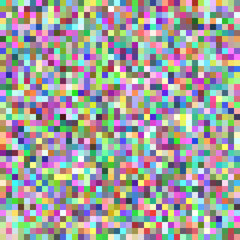 Pixel square tile mosaic background - geometric vector graphic from multicolored squares